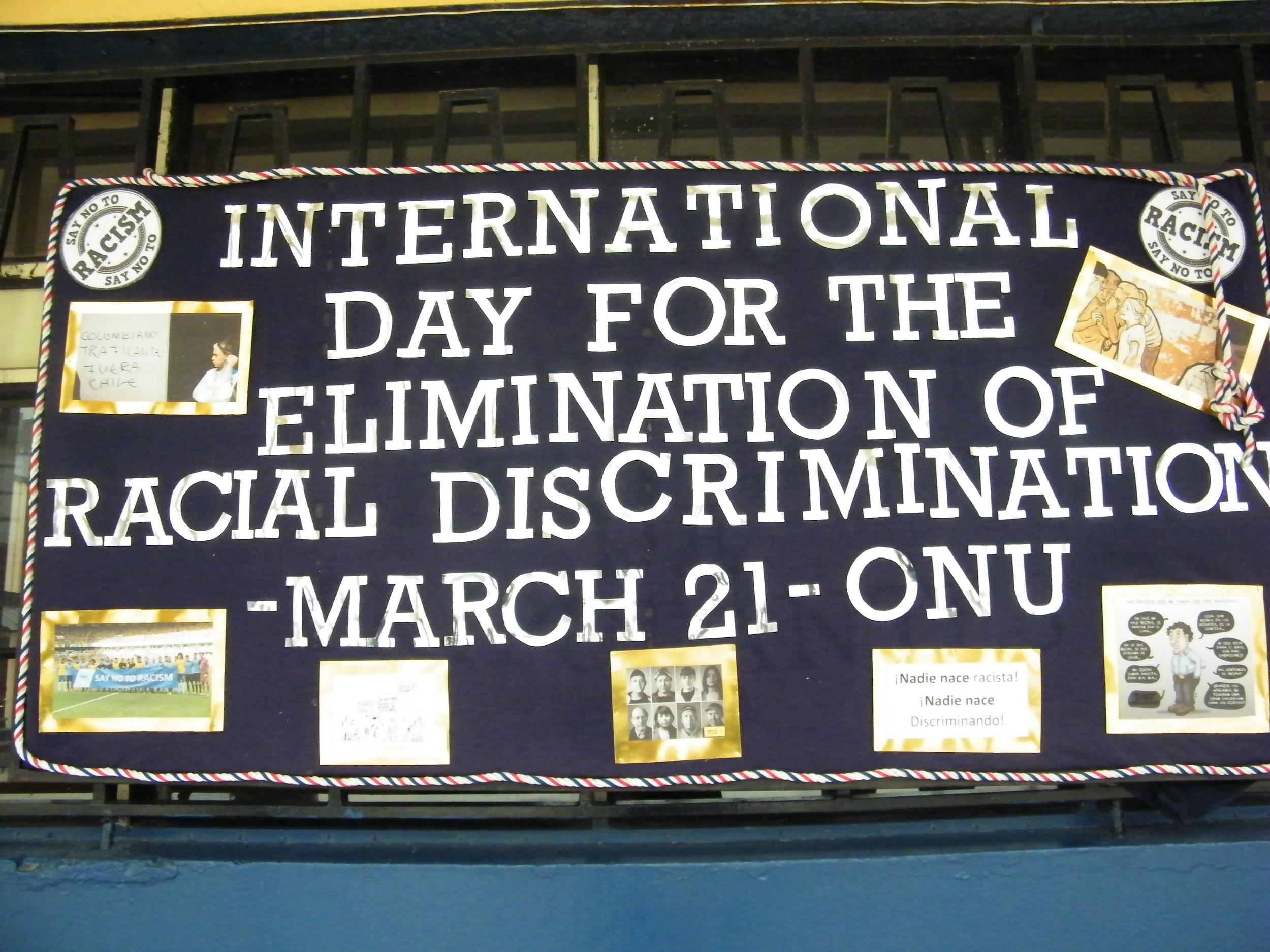 EFEMÉRIDES Día Internacional por la Eliminación de la Discriminación Racial
