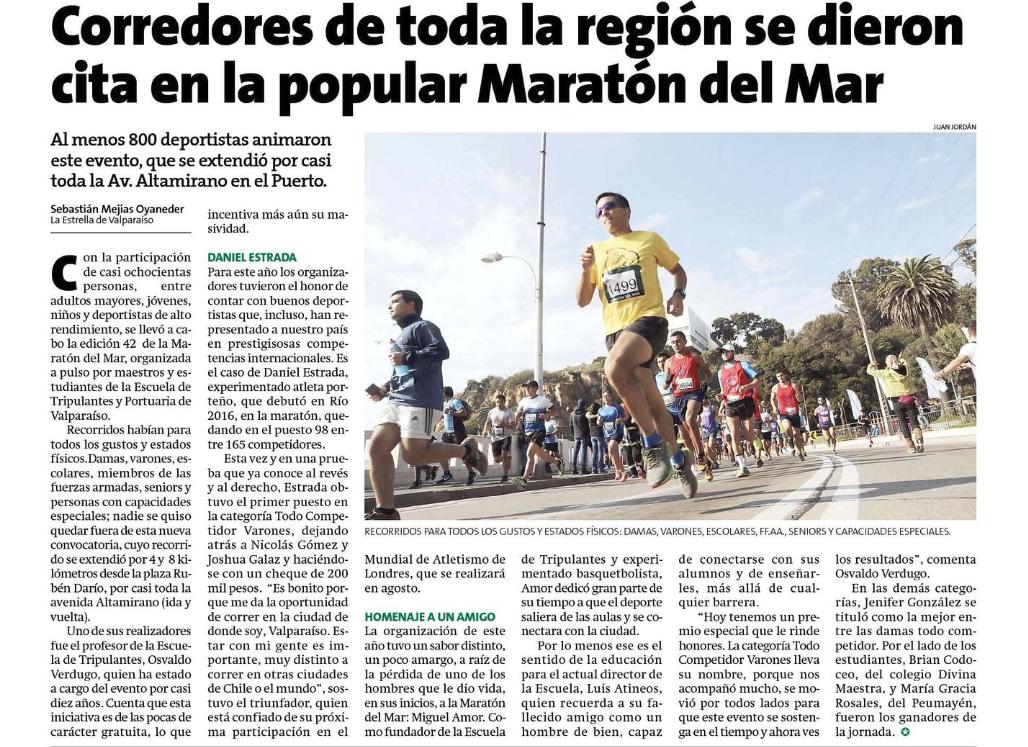42° Maratón del Mar en la Prensa
