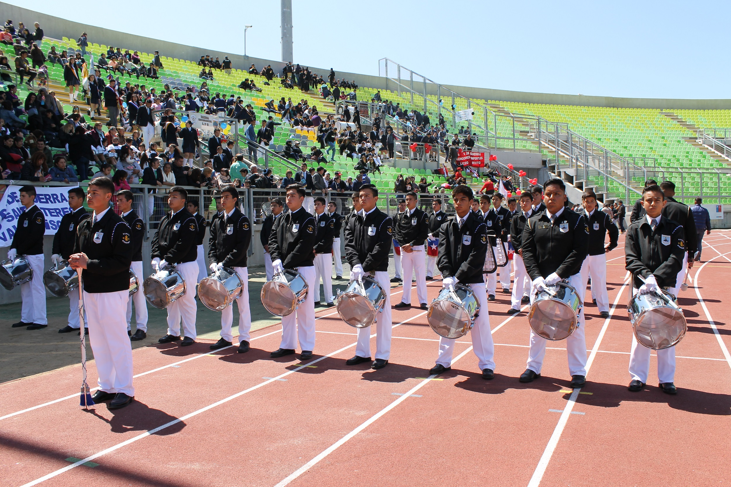 2° Concurso Interregional de Bandas en Estadio Elias Figueroa