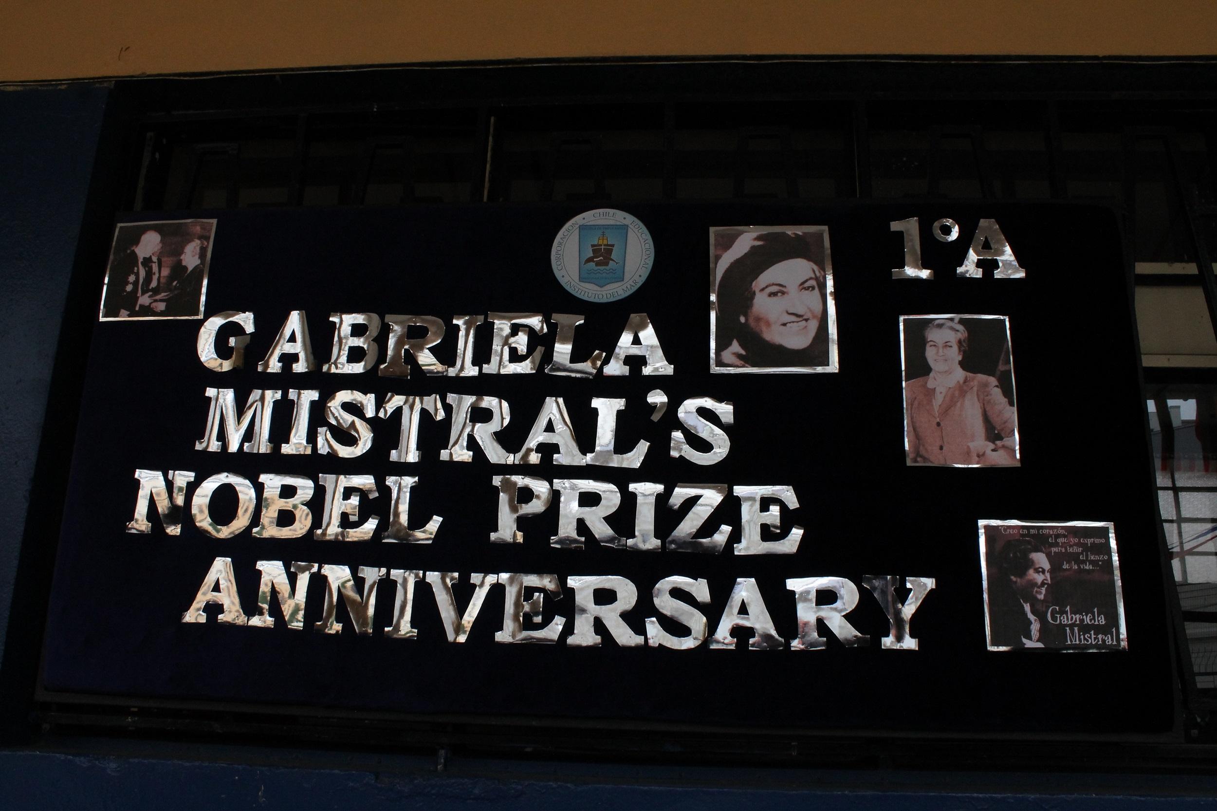EFEMÉRIDES Aniversario Premio Nobel Gabriela Mistral